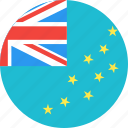 circle, country, flag, nation, tuvalu icon