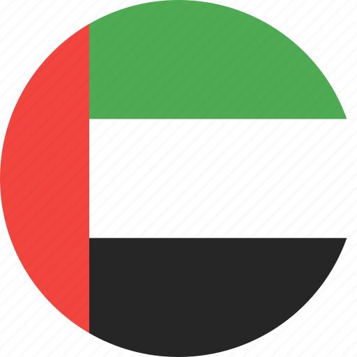 arab, circle, country, emirates, flag, uae, united icon