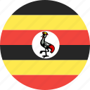 circle, country, flag, nation, uganda icon