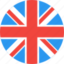 circle, country, flag, kingdom, nation, uk, united icon