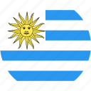 circle, country, flag, nation, uruguay icon