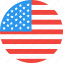 america, circle, country, flag, nation, states, united icon