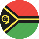 circle, country, flag, nation, vanuatu icon