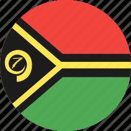 circle, country, flag, nation, vanuatu icon