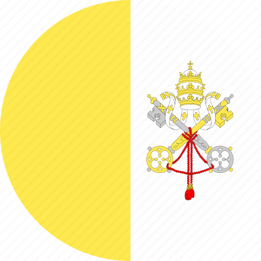 circle, country, flag, nation, vatican icon