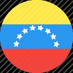 circle, country, flag, nation, venezuela icon