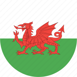 circle, country, flag, nation, wales icon