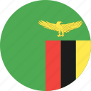 circle, country, flag, nation, zambia icon
