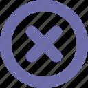 button, close, delete, round icon