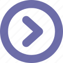 arrow, button, next, right icon