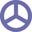 hippy, peace, steering, symbol icon