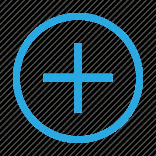 add, circle, document, new, plus, shape icon
