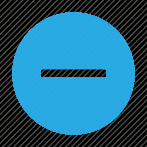 Circle, minus, remove, cancel, close, delete, trash icon - Download on Iconfinder