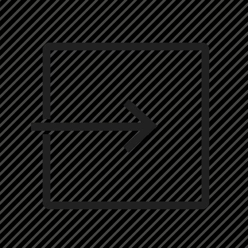arrow, close, exit, internet, security, sign, web icon