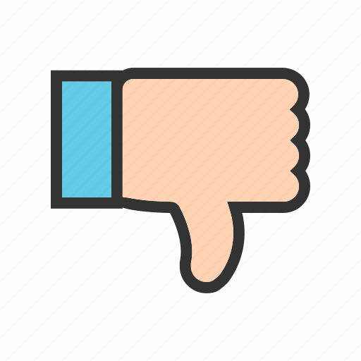 bad, dislike, down, feedback, good, thumb, thumbs icon