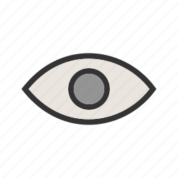 eye, glass, magnifying, search, visibility icon