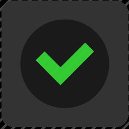 accept, complete, confirm, enter, function, good, ok icon