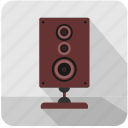 acoustic, hifi, listen, music, sound, speaker icon