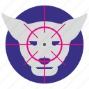 aim, hunter, kill, leopard, puma, tiger icon