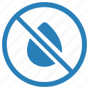 cancel, drop, over, stop, supply, water icon