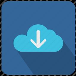 api, arrow, bottom, cloud, down, download, technology icon