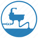 drop, leak, supply, tap, washing, water icon
