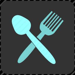 eat, food, fork, restaurant, spoon icon