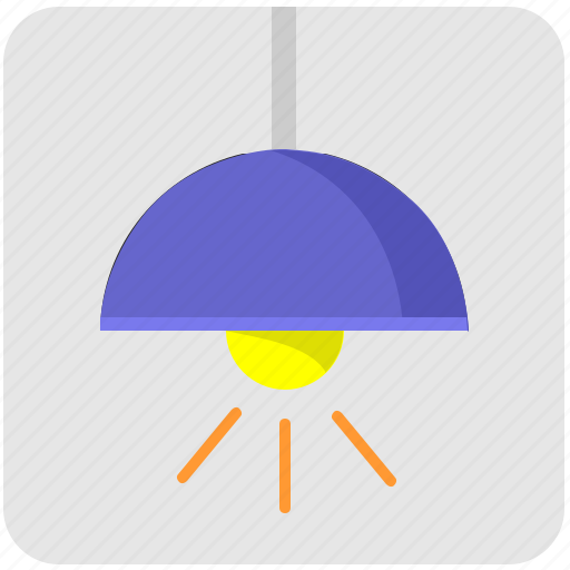 home, lamp, light, lighting, spot, top icon