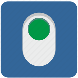 electric, energy, on, power, push icon