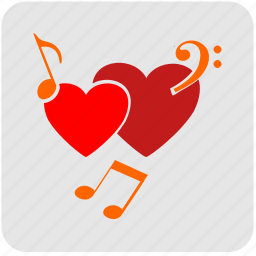heart, like, love, music, romantic icon