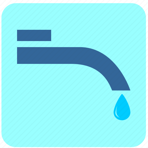 drop, dry, hand, tap, water icon