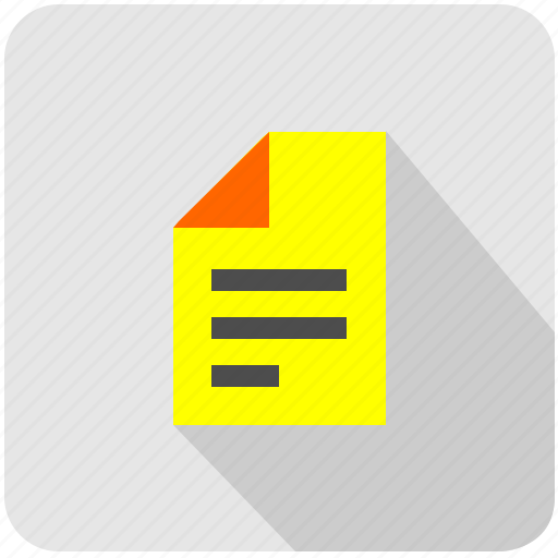 doc, document, pages, report, tax, yellow icon