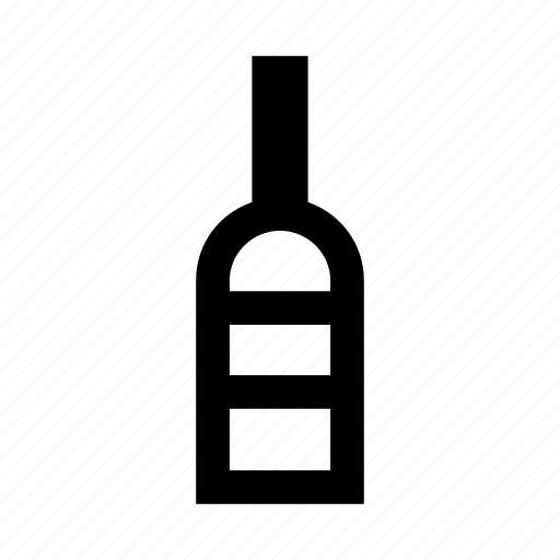 alkohol, bottle, outline, vine, vino icon