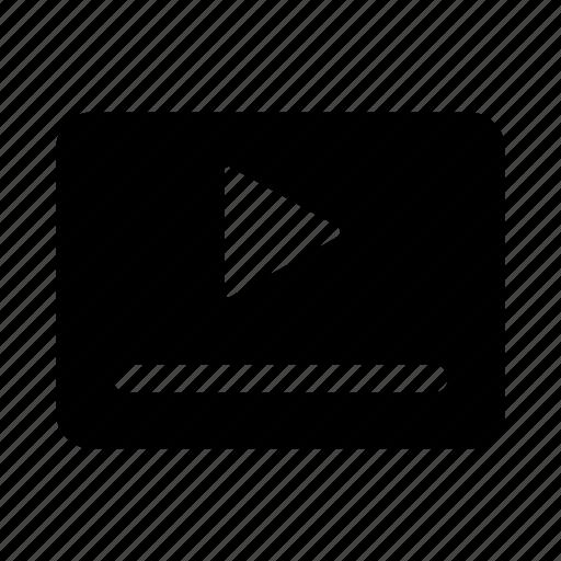 audio, player, stream, video, web icon