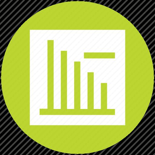 analytics, bar, chart, graph, minus, stats icon