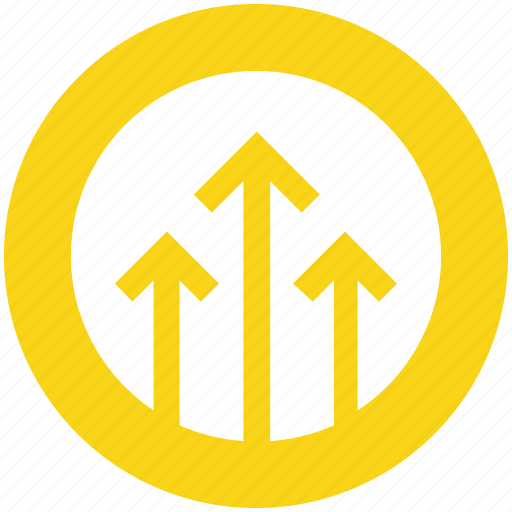 arrows, circle, direction, up, up arrows icon