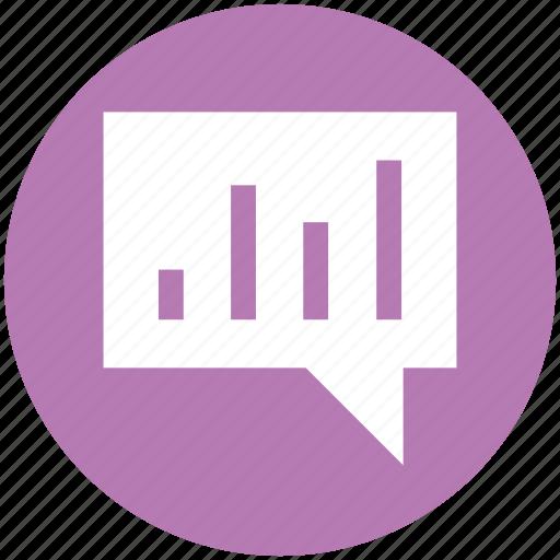 bar, bubble, chart, chat, graph, message icon