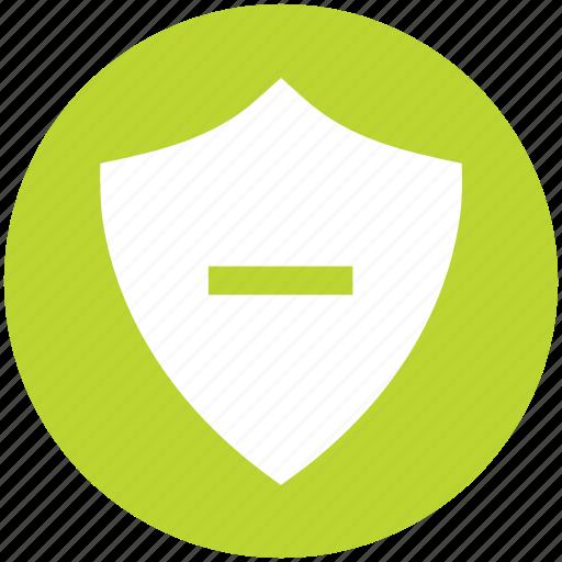 antivirus, minus, protect, security, shape, shield icon