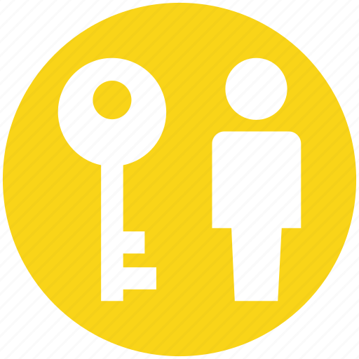 action, key, man, security, user, user key icon