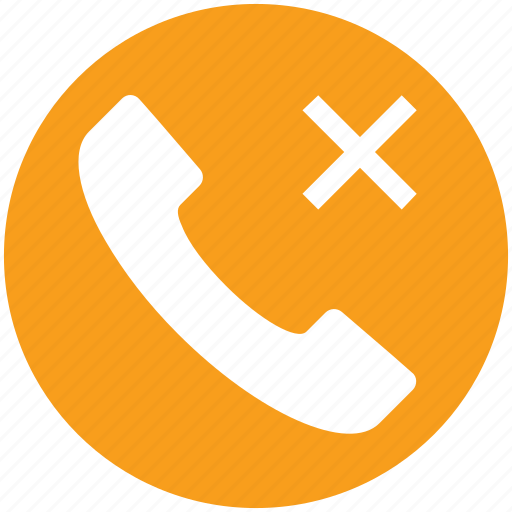 call, communication, contact, landline, phone, reject, telephone icon