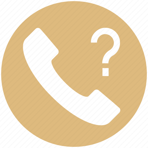 call, communication, contact, landline, phone, question mark, telephone icon