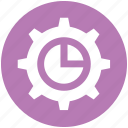 chart, cogwheel, gear, option, setting icon