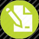 document, file, list, page, paper, pencil, write icon