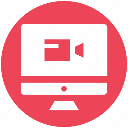 lcd, lcd and camera, online camera, screen, video camera icon