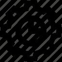 chart, cogwheel, gear, option, setting icon