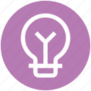 bulb, electric bulb, lamp, light, light bulb, power icon