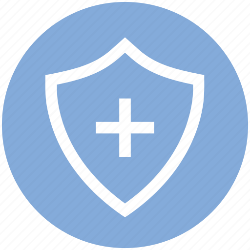 antivirus, plus, protect, security, shape, shield icon