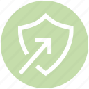 antivirus, arrow, protect, security, shape, shield icon
