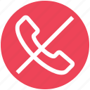 call off, communication, contact, end, landline, phone, telephone icon