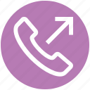 call, communication, contact, landline, outgoing, phone, telephone icon